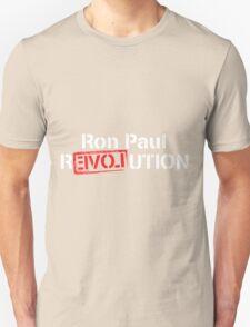 Ron Paul Revolution Love Logo White T-Shirt
