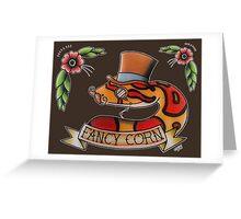 """Fancy Corn"" Greeting Card"