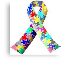 Autism Ribbon Metal Print