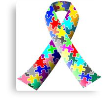 Autism Ribbon Canvas Print