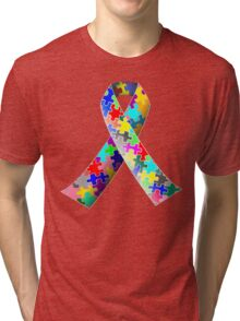 Autism Ribbon Tri-blend T-Shirt
