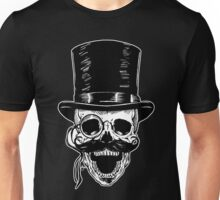Victorian Skull with Monocle Unisex T-Shirt