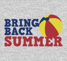BRING BACK SUMMER! with beach ball One Piece - Long Sleeve