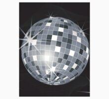 silver disco ball Kids Tee