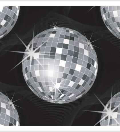 silver disco ball Sticker