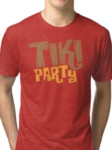 TIKI PARTY Tri-blend T-Shirt