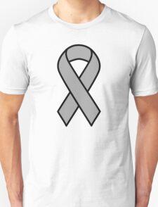 Grey Brain Cancer Ribbon T-Shirt