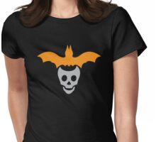Halloween skull and batty! Womens Fitted T-Shirt