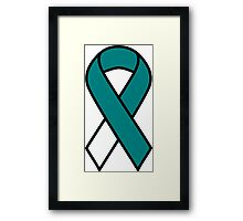 Cervical Cancer Ribbon Framed Print