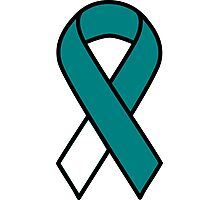 Cervical Cancer Ribbon Photographic Print