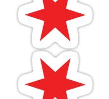 Chicago Flag Arrows Sticker
