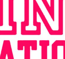 Pink {Nation} Sticker
