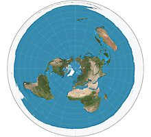 Flat earth time for change Photographic Print