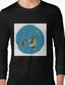 Flat earth time for change Long Sleeve T-Shirt