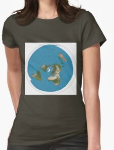 Flat earth time for change Womens Fitted T-Shirt