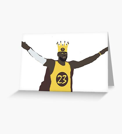 The king, Lebron James Greeting Card