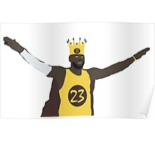 The king, Lebron James Poster