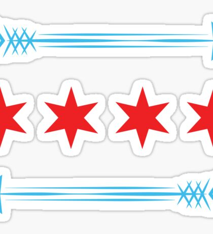 Chicago Flag Arrows - Horizontal Sticker