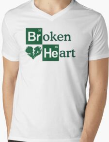 Broken Heart Mens V-Neck T-Shirt