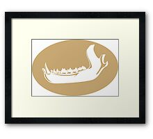 Wild Jaws (Beige) Framed Print