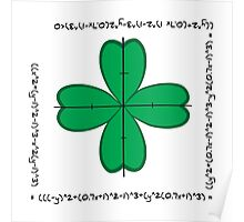 Mathematical four-leaf clover  Poster