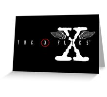 The X Flies Greeting Card