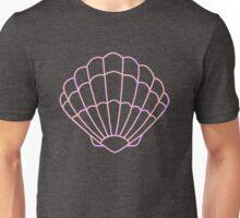 Pastel Mermaid Seashell Outline Unisex T-Shirt