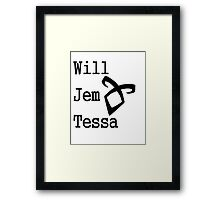 Infernal Devices Characters Framed Print