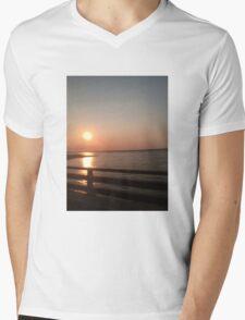 long beach sunset Mens V-Neck T-Shirt