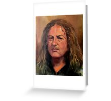 Portrait of Mick Greeting Card