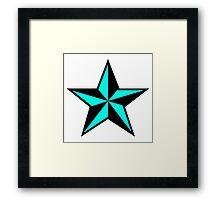 Punk star Framed Print