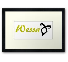Wessa Framed Print