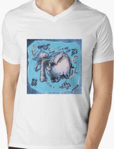 cartoon style flying elephant Mens V-Neck T-Shirt