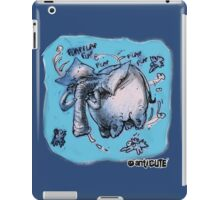 cartoon style flying elephant iPad Case/Skin