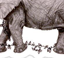 elephant with ivy Sticker