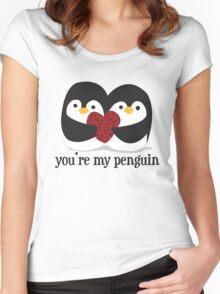You're my penguin Women's Fitted Scoop T-Shirt