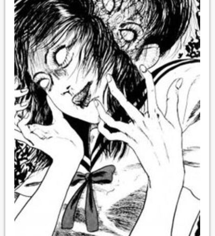 Ito Junji Creepy Manga Girl Sticker