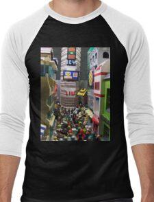 Corruption Square Men's Baseball ¾ T-Shirt