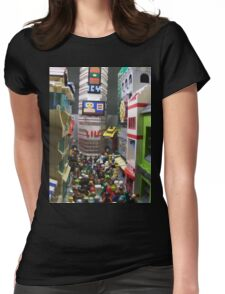Corruption Square Womens Fitted T-Shirt