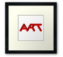 Isomeric Art Framed Print