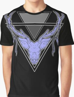 Triangle Deer H Graphic T-Shirt