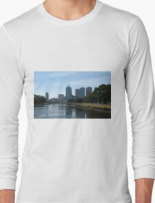 Melbourne Over The Yarra River Long Sleeve T-Shirt
