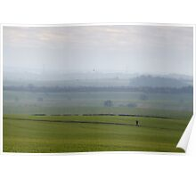Spring landscape of English countryside Poster