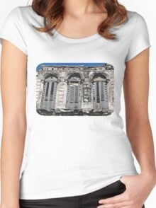 Windows with Shutters Women's Fitted Scoop T-Shirt