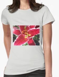 Flamboyant Lily Anthers - Macro Untouched Womens Fitted T-Shirt