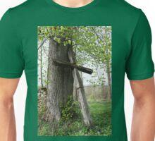 Old Catholic Christian wooden cross by  tree Unisex T-Shirt