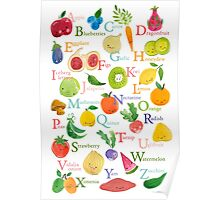 Fruit and Veggie Alphabet Poster