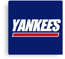 Ny Yankees Ny Giants logo swap Canvas Print