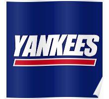 Ny Yankees Ny Giants logo swap Poster