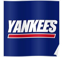 Ny Yankees Ny Giants logo swap Poster
